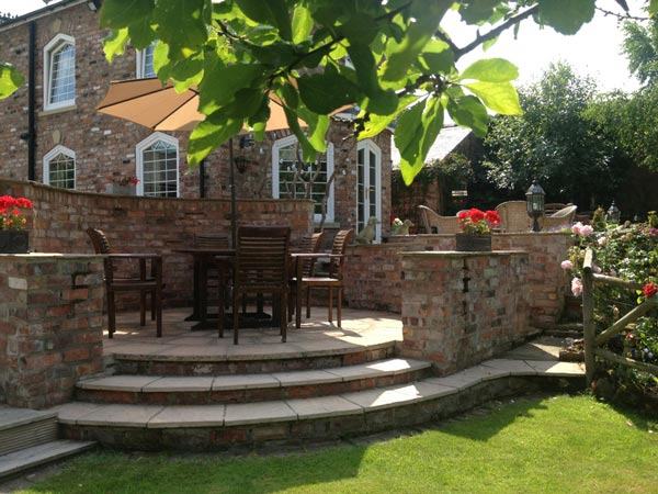 Landscaping, patios and driveways